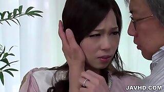 Misaki Yoshimura amazing porn show with older man