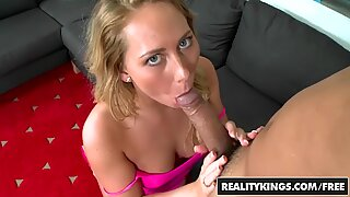 REALITY KINGS - Hot blonde Carter Cruise tries porn
