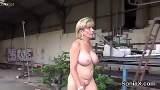 Unfaithful english mature damsel sonia showcases her monster udders
