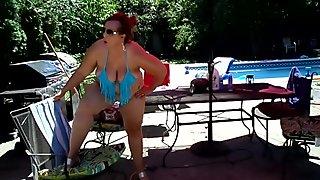 BBW Ursula In Thong Bikini