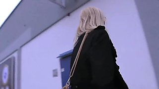 PublicAgent Surprised blonde in glasses fucking a stranger outside
