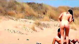 Public sex party at the Nude Beach