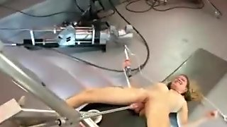 Gang of sexy girls using electric fuck machines to pleasure their