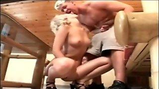 Blonde german couple anal fuck