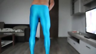 Cum on shiny wetlook Leggings