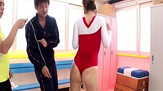 Submissive modest gymnast Arisa Aoyama gets her wet pussy stimulated