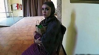 Super hot Arab bitch sucks cock in pov scene