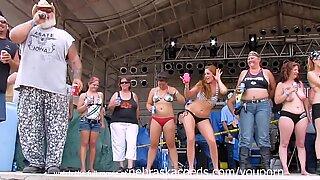 Massive Titty Contest at Iowa Biker Rally