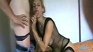 Ugly Blonde Milf Assfuck and facial