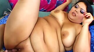 Dark head fat ass Vanessa Lee gives deepthroat blowjob and gets nailed hard from behind
