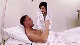 Petite brunette nurse
