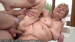 LustyGrandmas unshaved curvy Mature Gets youthful Meat Injection