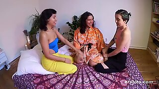 Real Amateur Lesbian Threesome Party