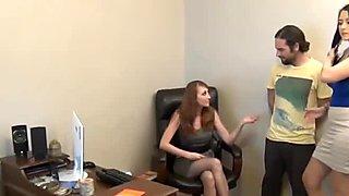 Good foot slave gets a pantyhose footjob as a reward