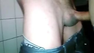 str8 Turkish stud fucked me in public wc