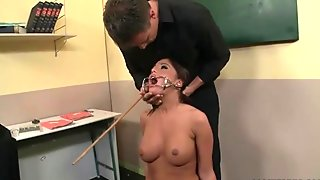 Schoolgirl gets punished and fucked rough
