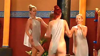 Mistress Joins On Slave Party Wearing Strapon