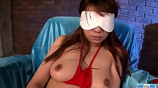 Lingerie model Natsuki Shino is happy to have her pussy pumped