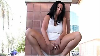 Lilith adored busty brunette outdoor