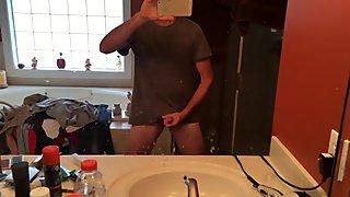 Str8 daddy cum in the bathroom