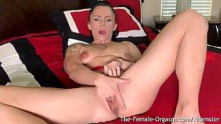 MILF Rubs Huge Clit and Big Lips Intense Clenching Orgasm