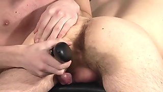 Horny dude gets drilled doggy style by his hung master