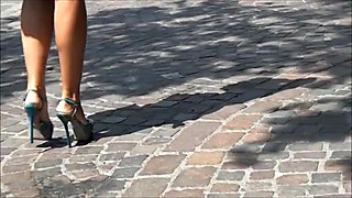 sexy feet & heels in street