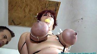 big tits zip tied part two