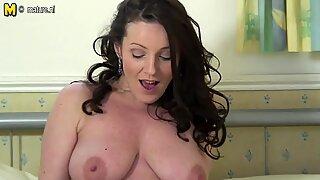 Hot British MOM loves to masturbate