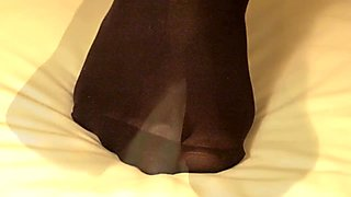 40 denier opaque black tights.