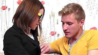 Casual Teen Sex - Eager nerdy chick gets nailed