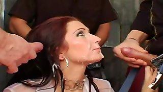 Facial cumbath nice girl