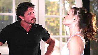 Cocksucking babe pounded by her coach