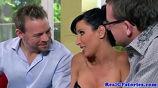 Milf housewives cuckold fun in her sexy lingerie