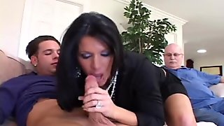 Cougar Watched By Adoring Hubby As She Fucks Another