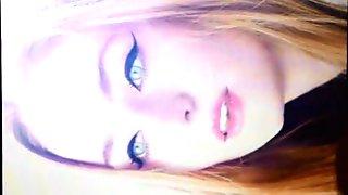 Sophie Turner Cum tribute SoP Facial Bukkake