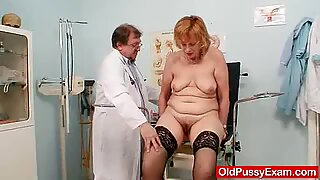 Redhead gran pussy gaping at gyno clinic