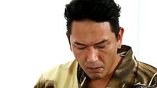 Asian stunner massage