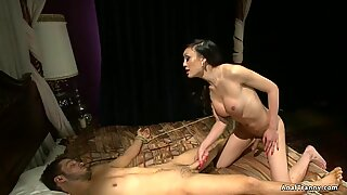 Asian shemale anal fucks tied ex bf