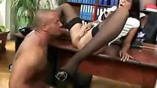 Hot secretary Angelica Heart has fuck fun in the office