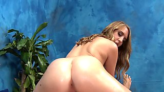 Massage hotty strips demonstrating her astonishing ass