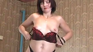Mature redhead stuffed with cock and jizzed on