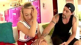 A lovely horny Blonde Cheerleader. AM