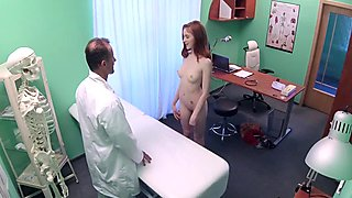Teen redhead fucked by doctor