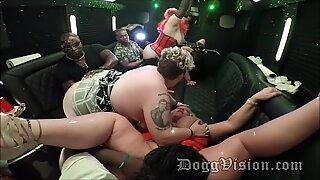 naughty Swinger Moms Wives cougars BBWs on soiree Bus
