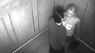 Security cam caught couple fucking