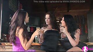 Lesbian Cougar seduces Two young Lesbians - Viv Thomas HD
