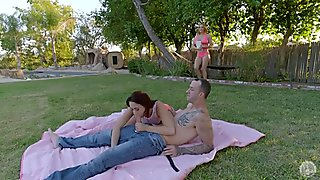 In The Garden With Two Hotties