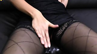 Spicy old mom dreaming of young cock and masturbating