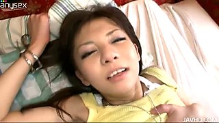 Slender Japanese amateur Hikaru Aoyama gets pounded in missionary style
